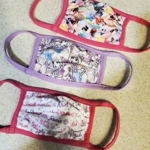NWOT Authentic Disney Princess face masks